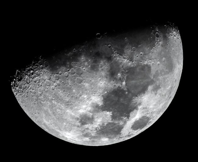 Astronomy Black Background Moon Nature Moon Surface No People Night Space Close-up Half Moon Outdoors