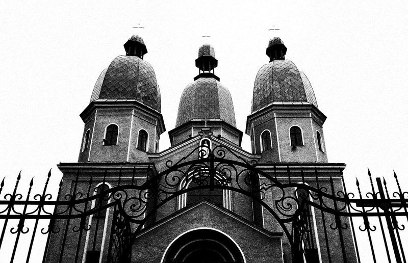 Architecture Outdoors Architectural Feature West Ukraine Black And White Photooftheday Contrast Blackandwhite Lightanddarkness Darkness And Light Architecture