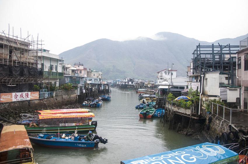 Boats Fishing Village Harbor Hong Kong Lantau Island Tai O Village Tourist Attraction  Water