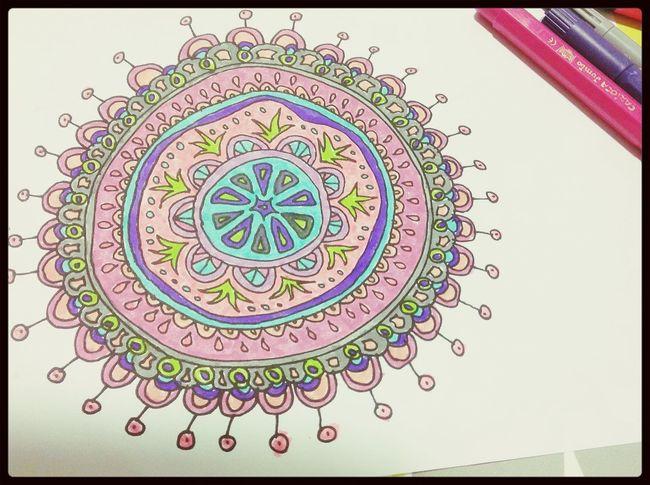 Hanging Out Drawing Coloring Mandalas!  Handmade