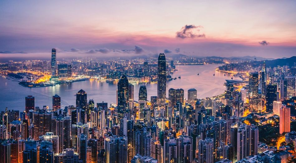 Sunrise over Hong Kong Population Megacity ASIA China Hong Kong Sunrise Sunrise Victoria Peak Hong Kong Skyline Hong Kong Sky Building Exterior Architecture City Built Structure Skyscraper Office Building Exterior Cityscape Modern Landscape Urban Skyline It's About The Journey