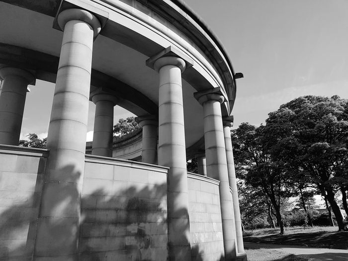 Architectural Column Architecture Business Finance And Industry Built Structure No People Outdoors Day Sky Politics And Government Metal Industry Close-up Arched Arches Columns Building Sunday EyeEm Selects Huddersfield Greenhead Park Park Building Exterior Black And White Monochrome Black & White