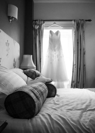 The Dress Future Occasion Nervous Anticipation Hope Women Princess Bright Bride To Be Elegant Unknown Excited Hope Jewels Big Day Wedding Adventure Wedding Day Curtain Sunlight Wealth Luxury Comfortable Furniture Bed Pillow Window Textile Bedroom Absence No People
