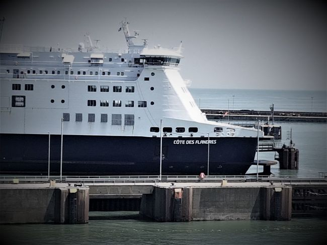 DFDS Ferries At The Port of Dover UK 2018 2018 2018 EyeEm 2018 Year DFDS Seaways Dover Dover, England England 🇬🇧 England, UK English Channel Great Britain Travel Travel Photography Travelling United Kingdom Architecture Ferries Mode Of Transportation No People Outdoors Photography Port Of Dover Sea Transportation Travelphotography Water
