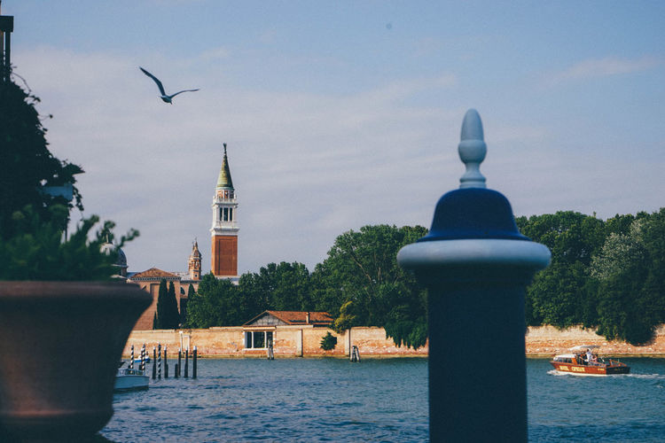Architecture Church Boat Canal Italy Nature Outdoors Sky Venice