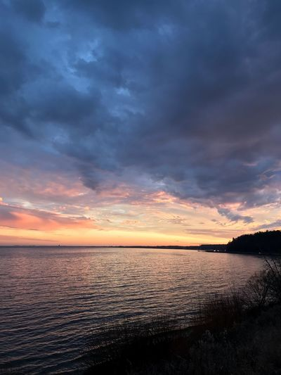 Sunset Tranquil Scene Scenics Beauty In Nature Water Tranquility Nature Cloud - Sky Sky Sea Idyllic Dramatic Sky No People Outdoors Horizon Over Water Day