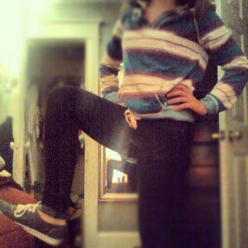 Favorite hoodie, jeans, and shoes. Gotsomecaptininme Americaneagle Holister Vans