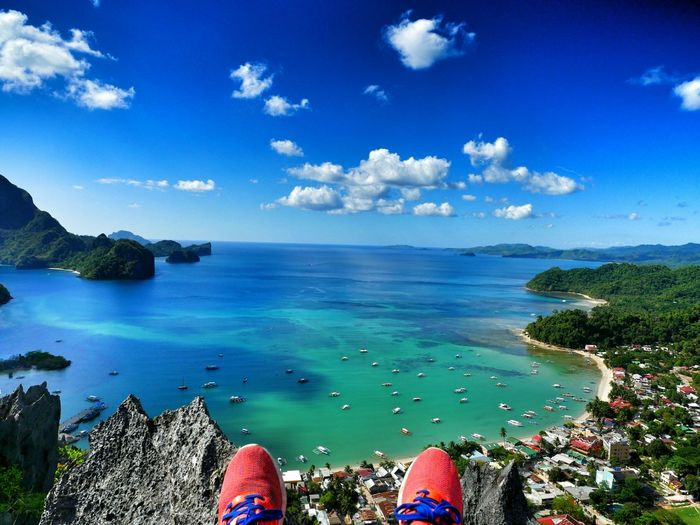 After hiking on the hill up to ElNido in Palawan. Philippines Elnidopalawan Enjoying Life Adidas EpicView Blue Sky Hello World Lovemylife Sun