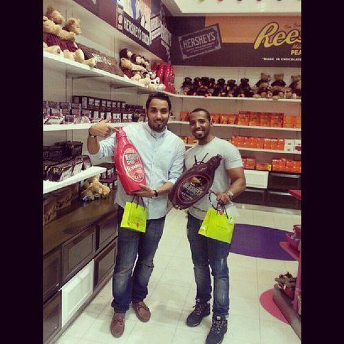Me I with @meshaal_n Candyshop Dubimall hersheys saudiarabia saudistyle saudi ksa khobar dammam bahrain kuwait uae mmu