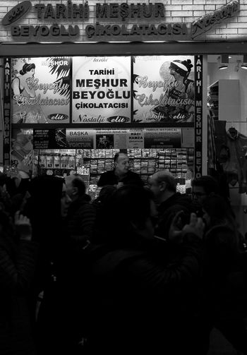 Beyoğlu Çikolatacısı Beyoğlu Beyoğlu çikola City City Life Day Glass - Material Group Of People Istanbul Istanub Istiklal Caddesi Lifestyles Looking Men Person Rear View Relaxation Sitting çikolara