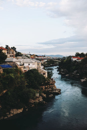 BIH Bosnia And Herzegovina Mostar Architecture Bosnia Building Exterior Built Structure Day Nature No People Outdoors River Sky Tree Water