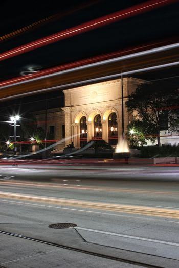 Light Trail Street City Street Night Long Exposure Road Night Photography Illuminated Architecture No People Outdoors Detroit Institute Of Art Woodward Avenue EyeEmNewHere Neon Life