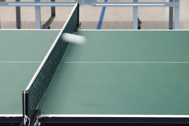Close-up of table tennis