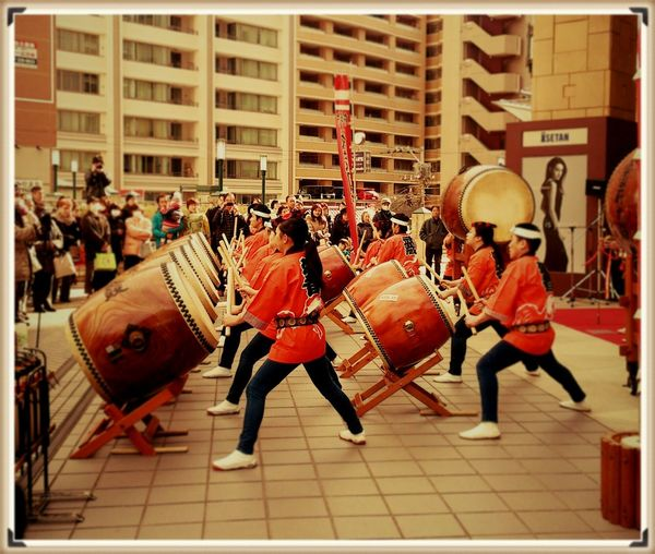 Japandse Drums Japanese Culture 和太鼓。和太鼓の響きはいつも感動する。よくみたら職場の仲間がいた!かっけぇー! Japanese Traditional Traditional Performing Arts