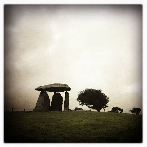 Pentre Ifan Hipstamatic Burial Chamber