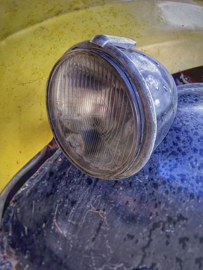Car Light Lamp Oldtimer Vintage Cars Retrica Retro Retro Car Carlight Yellow Blue Citroen 2cv Citroen Glass Glasses Glass - Material Reflector Car Porn Old Old Car Oldtimer Love Chrome Chrome Light Chrome And Glass Paint The Town Yellow