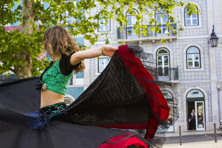 Belly dancer on street