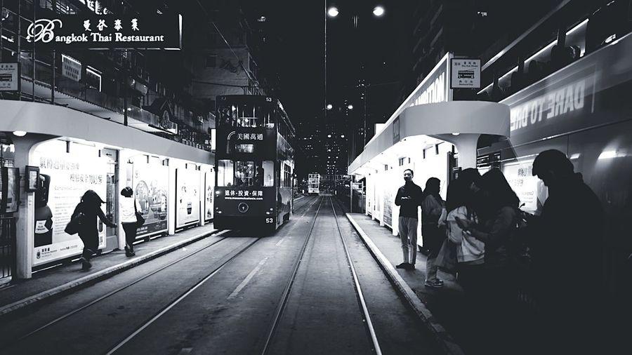 Tram Station HongKong Discoverhongkong Leica Leicaq Nightphotography Streetphotography Streetphotography_bw Hello World Walking Around Blackandwhite EyeEm Best Shots EyeEm Gallery EyeEmBestEdits Eye4photography  EyeEm Bnw
