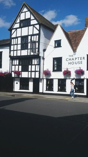 Miss Salisbury England House Chapter White Blue Flowers