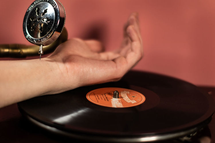 100BMP (feel the beat) ~ Analogue Sound Human Hand Hand Human Body Part One Person Indoors  Holding Real People Communication Men Occupation Arts Culture And Entertainment Lifestyles Close-up Technology Record Music Unrecognizable Person Selective Focus Gramophone Vinyl