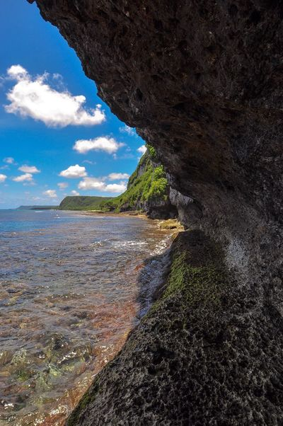 Fai Fai Beach and View of Northern Coast of Guam Nature Scenics Rock Formation Beauty In Nature Tranquility Travel Destinations Landscape Idyllic Perspectives On Nature
