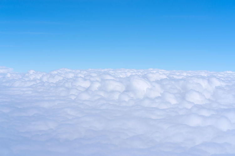 Close-up of cloudscape against blue sky