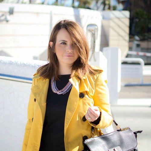 Yellow Trench Black Dress Fashion Blog Valstyle