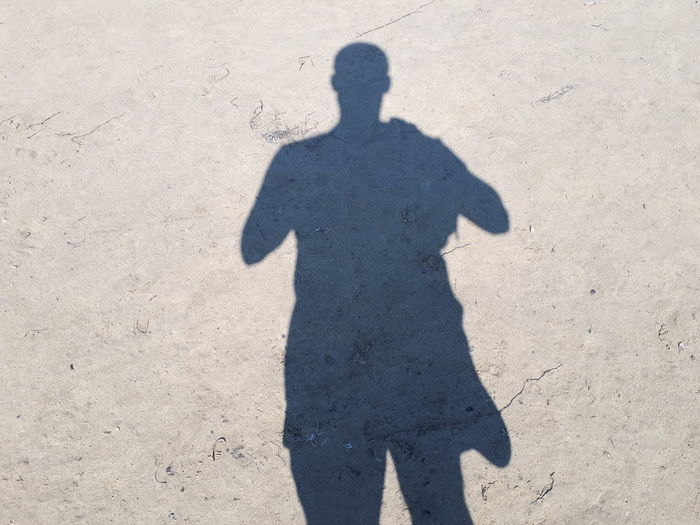 Beach Shadow Sand Sunlight Focus On Shadow Standing High Angle View Silhouette Sunrise Sand Dune Sun