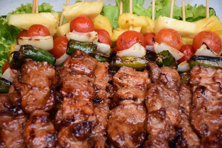 BBQ of plate Barbecue Close-up Food Food And Drink Freshness Fruit Healthy Eating In A Row Indoors  Indulgence Meal Meat No People Ready-to-eat Serving Size Snack Still Life Temptation Tomato Tray Vegetable Wellbeing Grilled Chicken Pastry Marinated Serving Dish Red Meat Unhealthy Lifestyle Grilled Fried Chicken