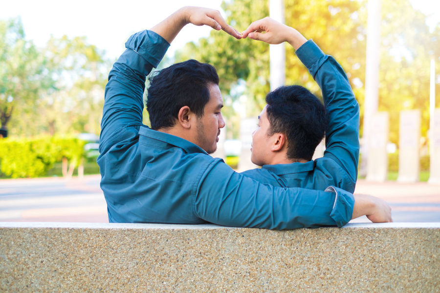 Asian  Couple Happiness Love Lovers Relationship Romance Romantic Young Bonding Boyfriend Gay Gay Boy Happıness Heart Homosexuals Men People person Togetherness Two People