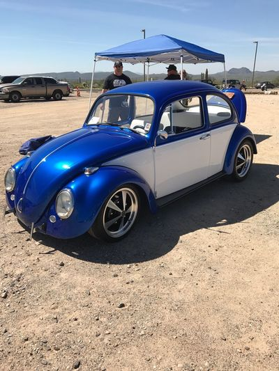 Car Collector's Car '66 VW Buggy Classic Cars Historical Car Blue And White