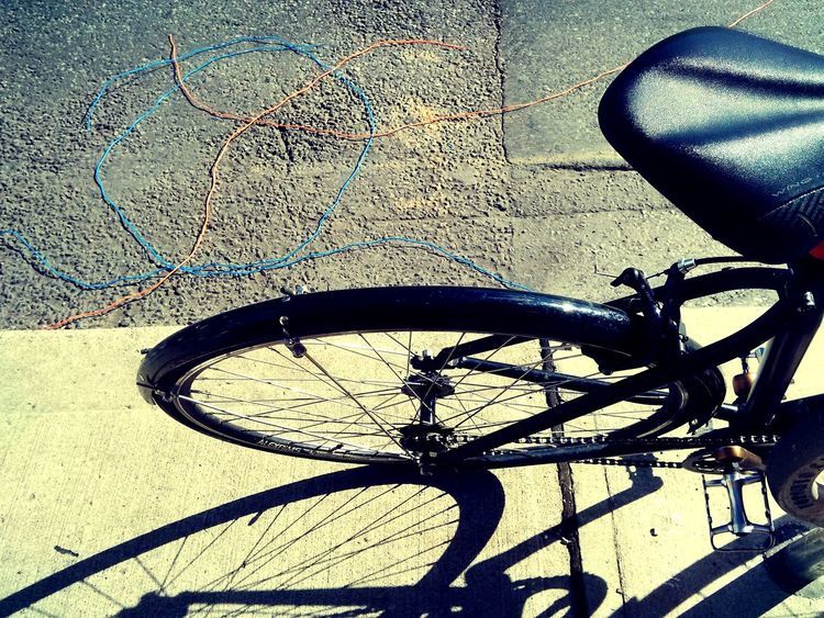 #bicycle #bikeart #foursquare #minimalist #shadowar High Angle View No People Transportation