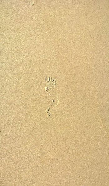 Footprints Nature Gold Sand Grains No People Relax Sand Walking Beach