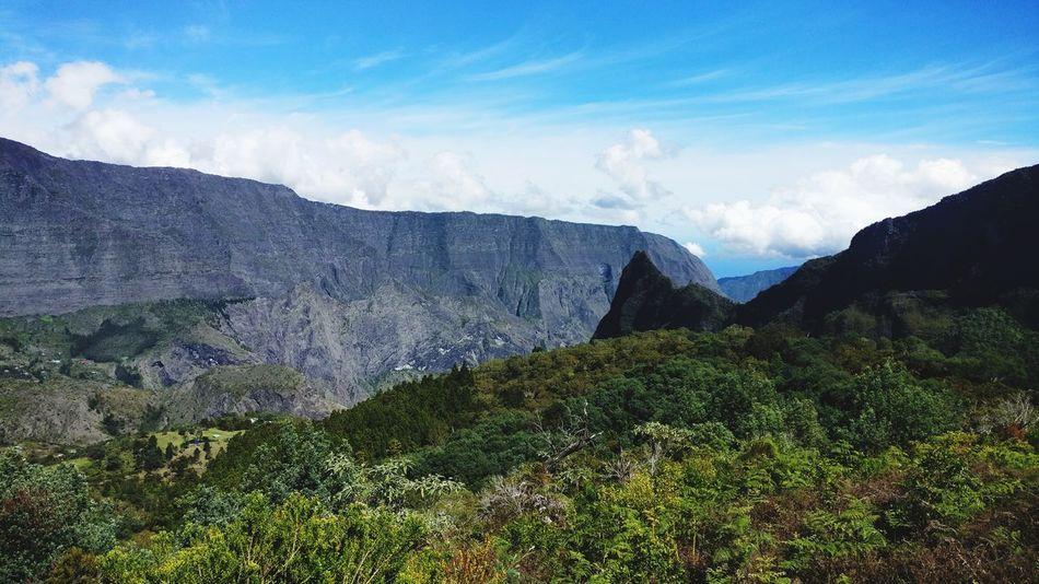 EyeEm Selects Mountain Nature Scenics Tree Area Landscape La Réunion  Randonnée Hiking Cloud - Sky Sky No People Beauty In Nature