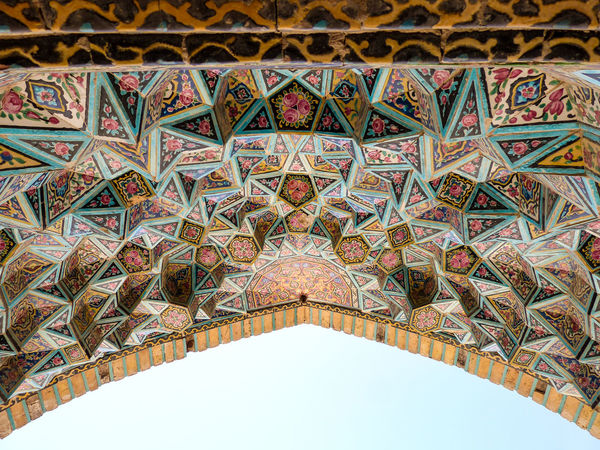Architectural Design Architectural Feature Architecture Architecture And Art Built Structure Ceiling Day Design Designed Directly Below Famous Place History Intricacy Iran Islamic Low Angle View Mosaic Mosque Multi Colored Outdoors Pattern Persian Portuguese Culture Tourism