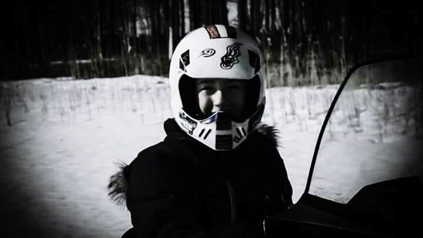 Wintertime Winter Boy Helmet Snowmobiling Boy The Boy Northern Norway Norway Mo I Rana Funtimes
