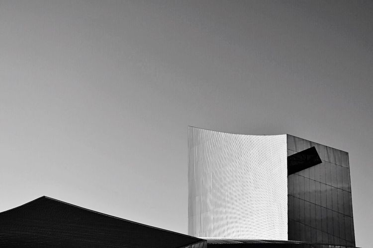 Architectural Shapes The Architect - 2017 EyeEm Awards Architecture Built Structure Building Exterior No People Day Outdoors Modern Low Angle View Sky Imperial War Museum North Salford Quays Architectural Style Architecture Photography Blackandwhite Building Story EyeEm Architecture Architectural Detail Architectural Feature Architecture_bw Architecture And Art Art Is Everywhere Design Modern Architecture