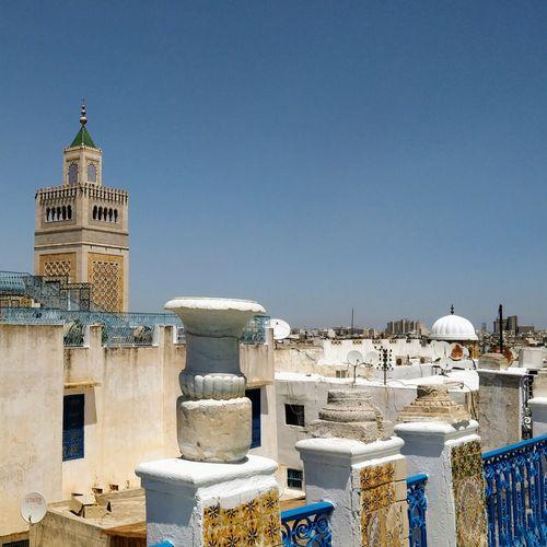 The Week On EyeEmTravel Destinations Sky Outdoors Architecture History No People Mosquée Zitouna Minaret Tunis Tunisia Medina