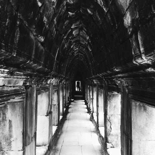 Walkway leading to corridor of building