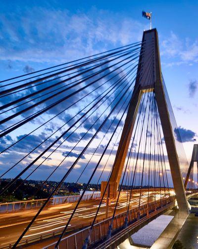Sky Cloud - Sky Architecture Built Structure Bridge - Man Made Structure Bridge Transportation Suspension Bridge Cable-stayed Bridge Tourism Travel