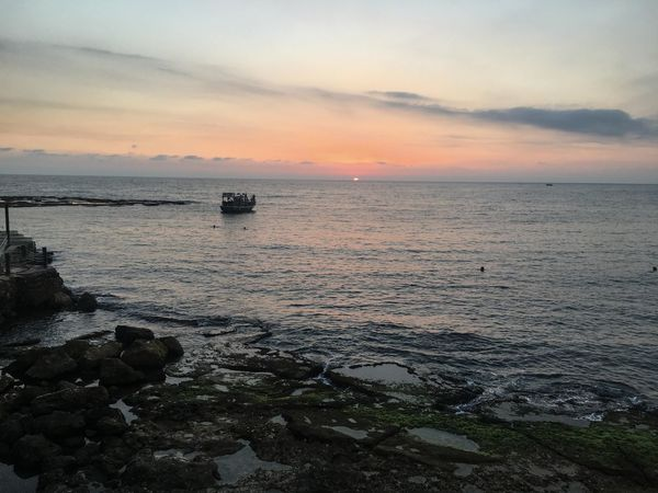 Byblos,Lebanon Jbeil Lebanon Beach Beauty In Nature Cloud - Sky Day Horizon Over Water Nature No People Outdoors Rock - Object Scenics Sea Sky Sunset Tranquil Scene Tranquility Water