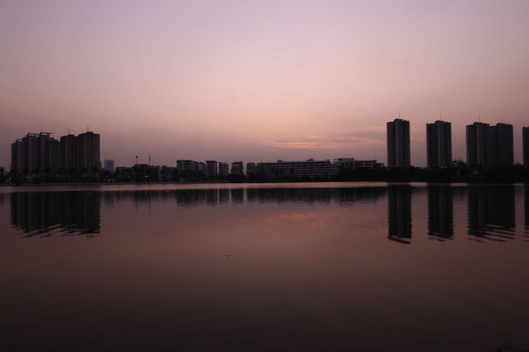 Lake in town