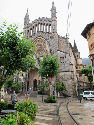 Church of Soller, Mallorca. City Life Urban History Soller, Mallorca Soller Mallorca Mallorca💙 Traveling Town Mallorca🌞 Built Structur International Landmark Outdoors Building Exterior Old Neogothic