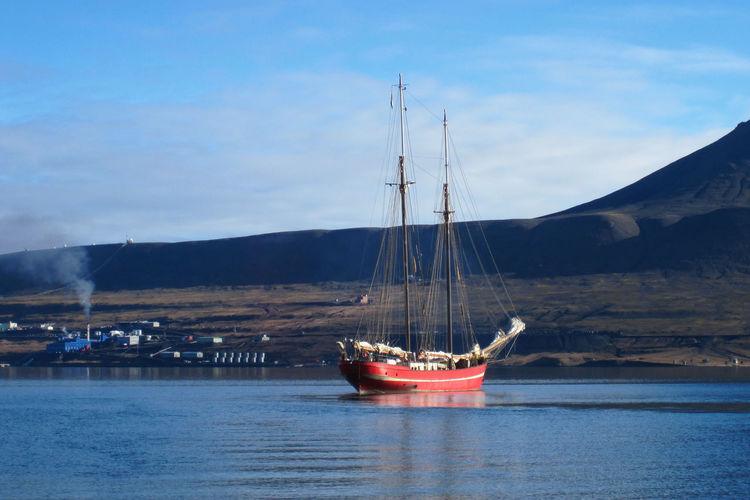 Sailship near