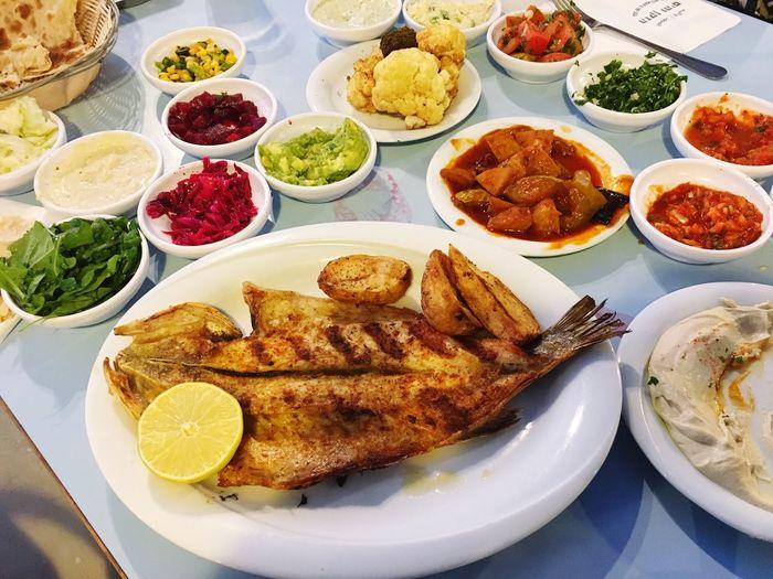 Meze Grilled Fish Food