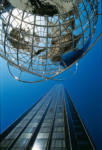 1999 Analogue Photography Architecture Clear Blue Sky New York City Travel Photography USA Architecture Blue Building Exterior Built Structure City Clear Sky Day Diascan Low Angle View Man Made Structure Modern No People Outdoors Sky Skyscraper