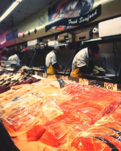 Chinatown FishMarket Retail  For Sale Working Real People Healthy Eating Indoors