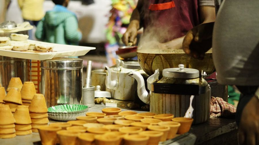 Chai time Healthy Eating Marketplace Chai Tea Teatime Cups Earthencups ClayCups Tea Cups Food And Drink Food Sweet Food Indoors  Indulgence Table Freshness Dessert Temptation Day Close-up No People Visual Creativity