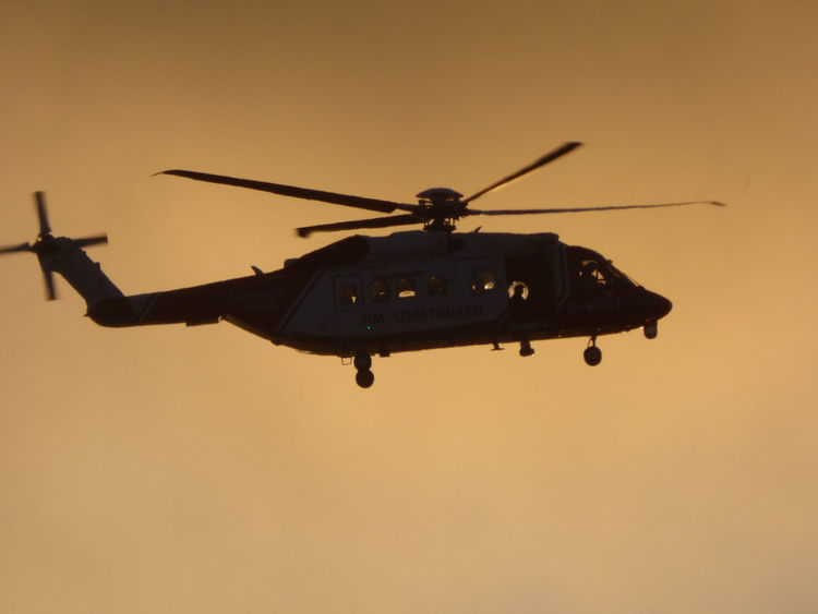 Silouette Hellicopter Aircraft