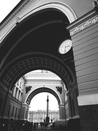 Architecture Triumphal Arch Travel Low Angle View Day City Arch SaintPerersburg Russia, St.Petersburg Санкт-Петербург Арка главного штаба Дворцовая площадь черно-белое фото XiaomiMi5s Mi5S Hypocam чернобелоефото мобилография Bwphotography Bwoftheday Питер архитектура